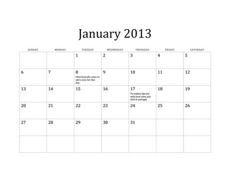 word 2013 calendar template classic 2013 calendar for home and office