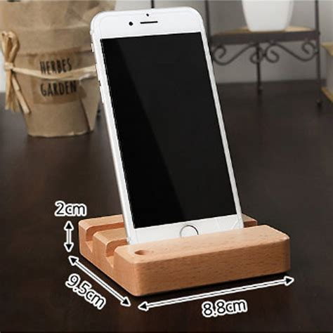 office desk phone holder universal desk wood pen mobile smart phone holder memo pad