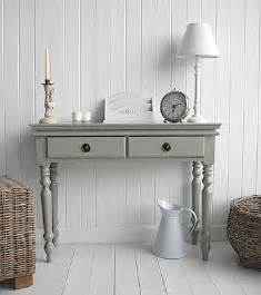 White Hallway Console Table Gray Bathroom Console Grey Console Table From The White Cottage Living Furniture