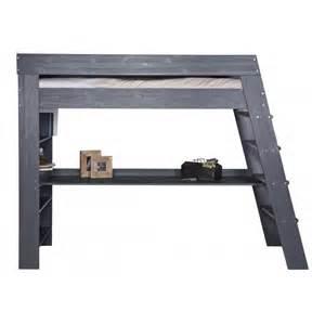 lit mezzanine avec bureau elo 239 se gris acier eloiantm01n