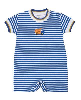 Romper Truck Stripe florence eiseman baby boys royal blue striped knit romper