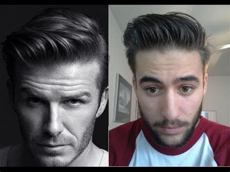 what hair styling product does beckham david beckham h m inspired hairstyle how to style