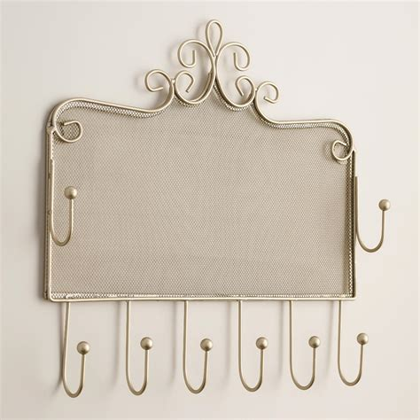 pewter wall jewelry holder with hooks world market