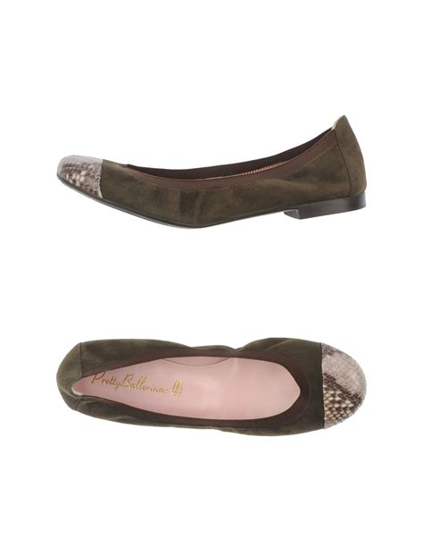 pretty flats shoes pretty ballerinas ballet flats in green lyst