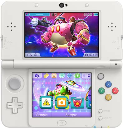themes line xl kirby planet robobot 3ds theme out now in japan