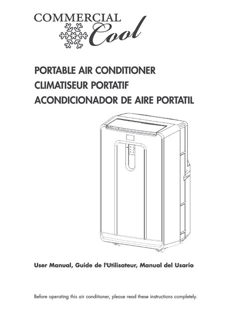 commercial cool room air conditioner cpn12xc9 commercial cool portable air conditioner cpn12xh9 manual