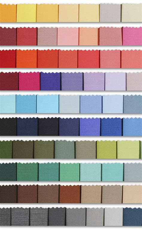 color matched colour sles palette of fabric