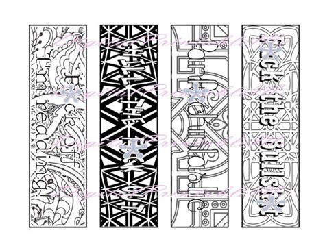 printable bookmarks adults printable bookmark swear coloring page book by