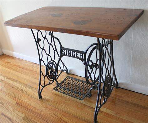 Singer Sewing Table by Antique Singer Sewing Machine Iron Table Base With Wood