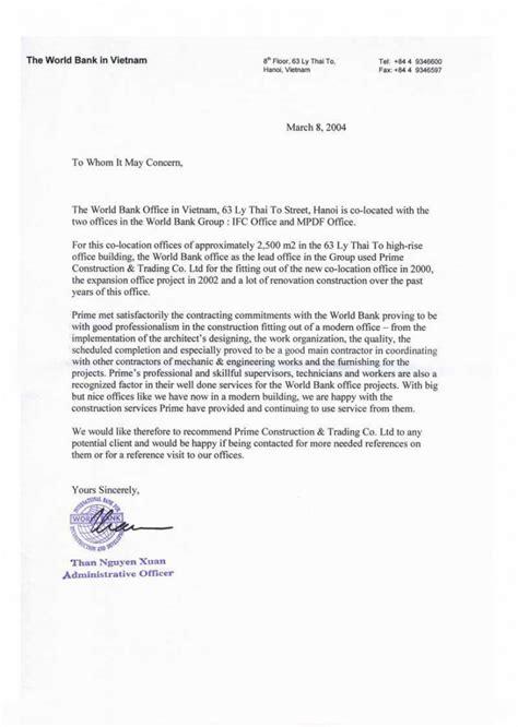 Award Letter For Bank Primevn