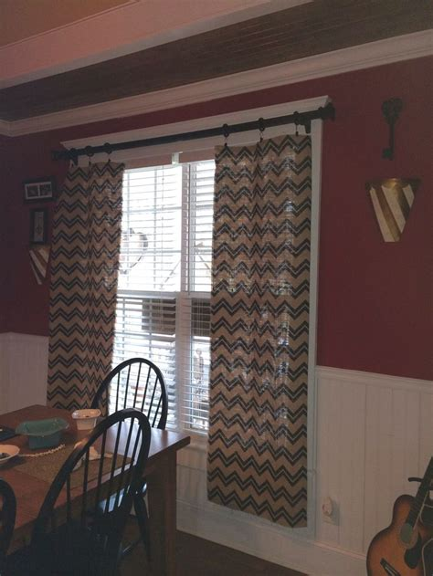 burlap chevron curtains 17 best images about curtains and doors on pinterest