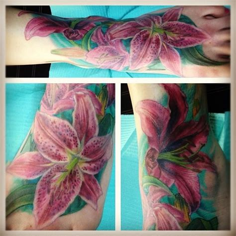 oriental lily tattoo meaning hair stargazer lily pictures to pin on pinterest tattooskid