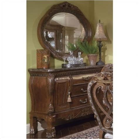 aico eden bedroom set aico furniture eden sideboard and mirror set in amaretto