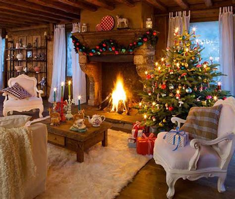christmas decorated home alpine chalet christmas decoration 15 charming country