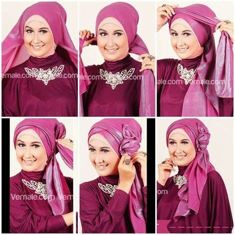tutorial hijab pesta simpel tapi elegan