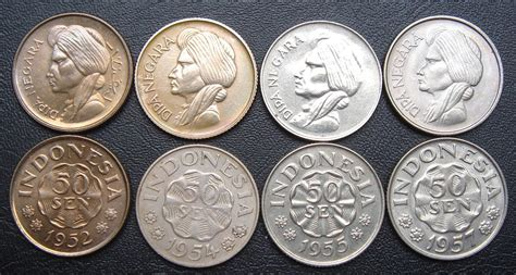 Koin 50 Sen Diponegoro Thn Cur benda antik langka macam macam koin set bisa beli bijian