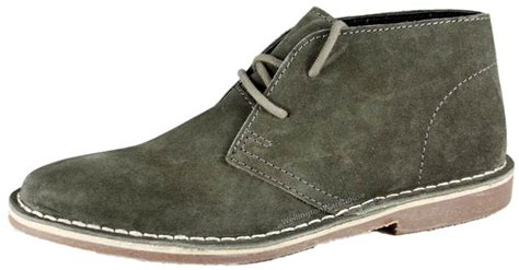 gobi suede mens grey brown navy desert boots
