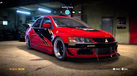 Stopl Lancer 98 Evo 5 Kanan fast and furious part 1 evolution ix mr customization need for speed 2015