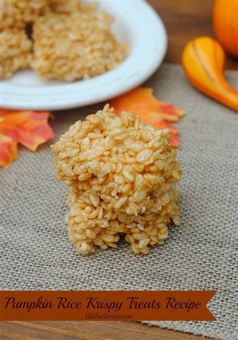 treat recipes pumpkin pumpkin rice krispy treats recipe the kid s review