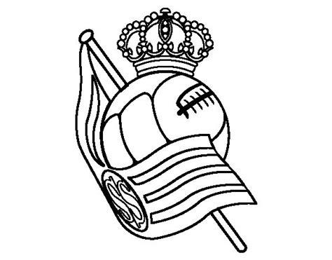 imagenes reales para colorear dibujo de escudo de la real sociedad de f 250 tbol para
