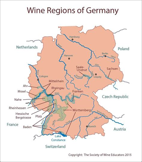 Search For In Germany Germany Wine Map Images