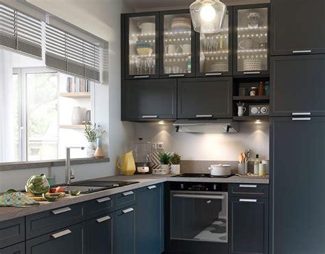 駘駑ents de cuisine castorama castorama cuisine fog bleu une cuisine chic et pratique