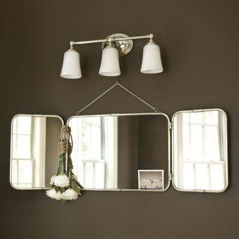 Tri Fold Bathroom Vanity Mirrors | tri fold vanity mirror ballard designs bathroom
