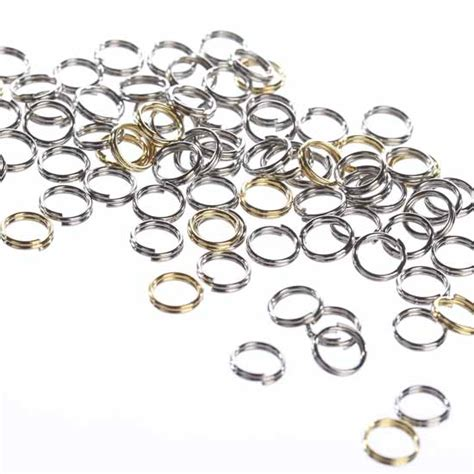 Silver And Gold Mini Split Rings Jewelry Findings