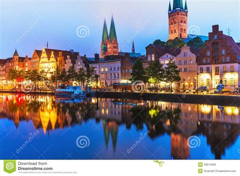 scenic town lubeck germany stock photo image 46514956