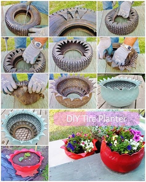 How To Make Tire Planters 1000 images about tired on tires