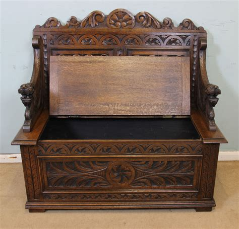 antique oak settle bench antique victorian georgian edwardian furniture the
