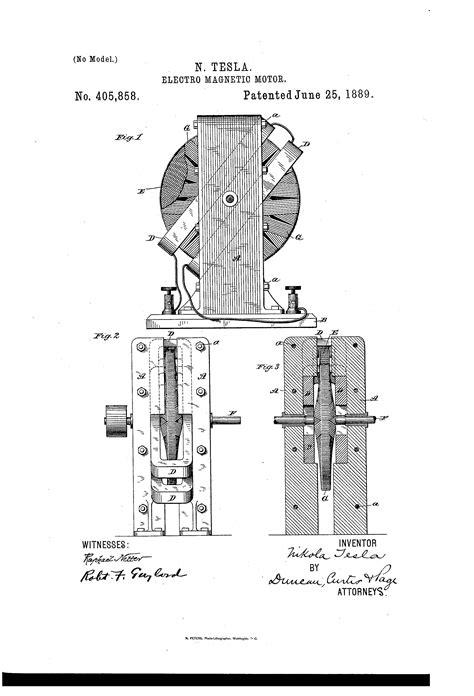 nikola tesla magnetic induction patent us405858 nikola tesla patents