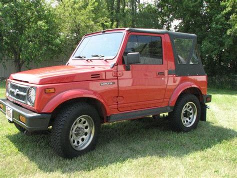 manual cars for sale 1993 suzuki samurai user handbook purchase used 1993 suzuki samurai time capsule like new 59 323 original miles 4x4 must see in