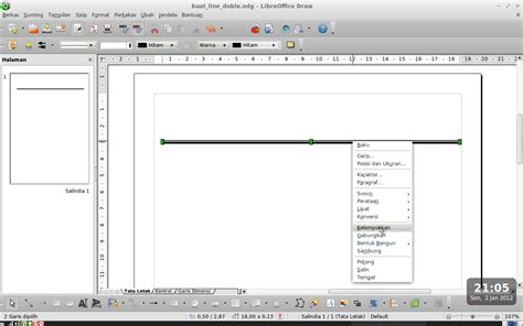 tutorial membuat garis kop surat cara membuat garis double pada kop surat libreoffice