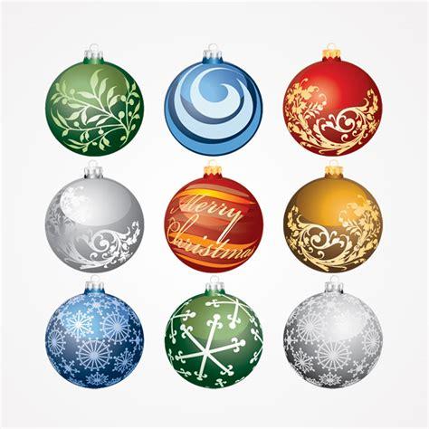 christmas balls ornaments vector set free free vector