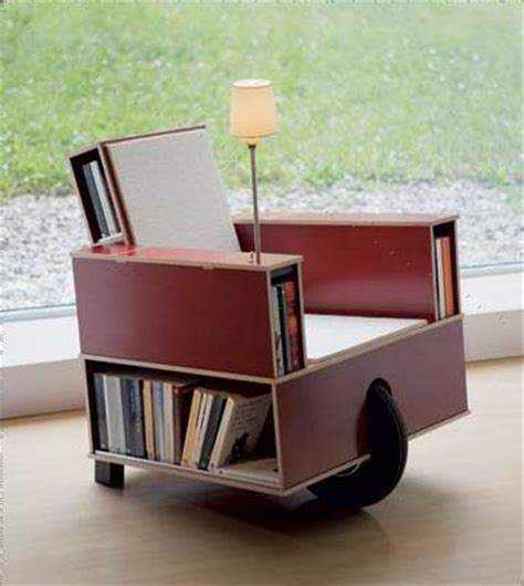 bookcase built into chair boing boing