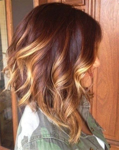 red to blonde ombre bob 25 popular medium hairstyles for women mid length