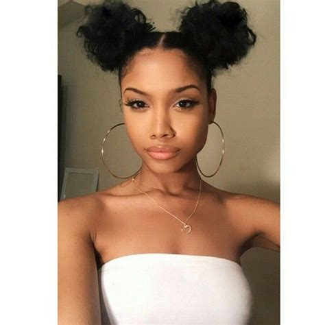 pics of black women pretty big hair buns with added hair 83 best double buns images on pinterest natural updo