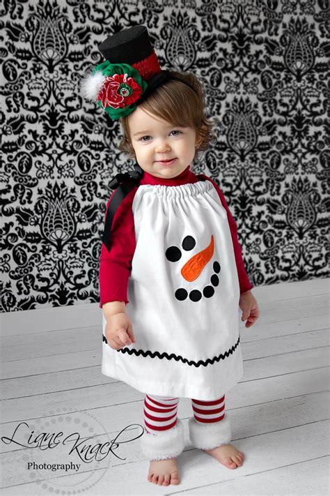 snowman pillowcase dress christmas holiday winter