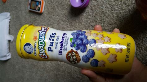Gerber Puffs Graduates Cereal Snack Baby Blueberry 42 Gram gerber graduates blueberry puffs cereal snack calories