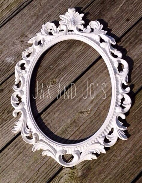 pick your color baroque frame oval open scatter ornate shabby chic antique vintage wedding