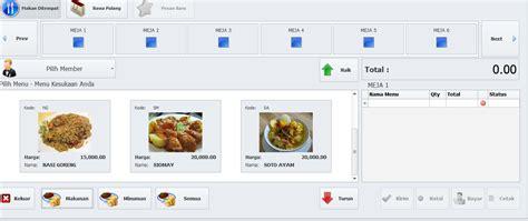 Mesin Kasir Untuk Restoran penjualan software restoran program restoran