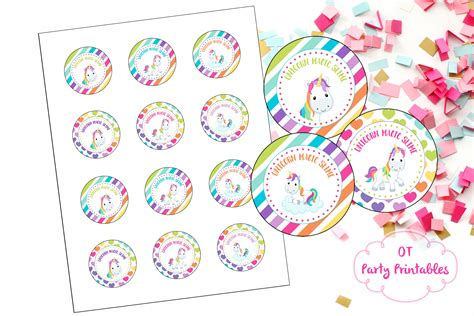 printable stickers office max instant download unicorn birthday party printables unicorn
