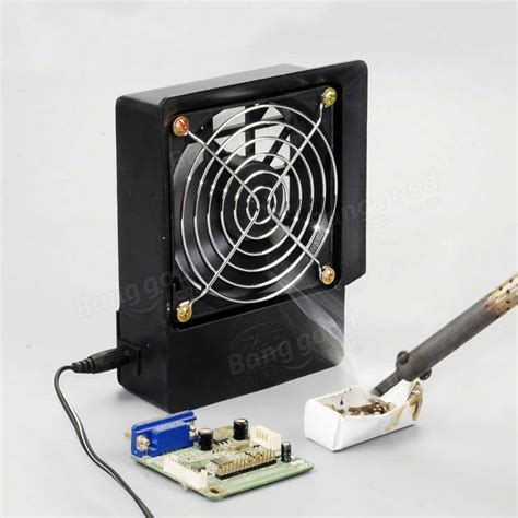 cigarette smoke extractor fans exhaust fan kit electric soldering iron air blower welding