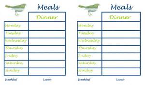 weekly dinner menu planner template 30 family meal planning templates weekly monthly budget