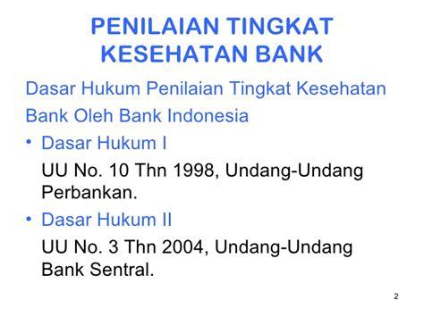 Hukum Perbankan Di Indonesia By Drs Mhd Djumhana S H tingkat kesehatan bank