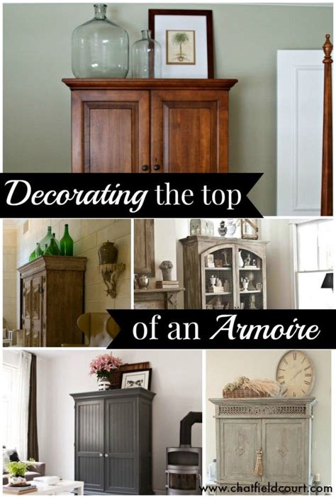 decorate  top   armoire armoire decorating home