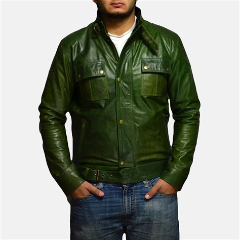 Mens Green Leather green leather jacket jackets review