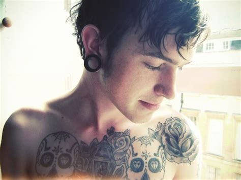 tattoos for guys tumblr pics for gt guys with tattoos and gauges