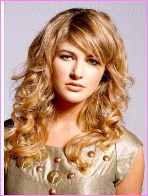 haircuts for long curly hair with bangs cute hairstyles for long curly hair school stylesstar com